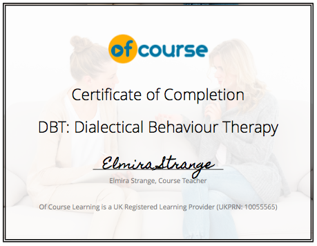 Psychology: Dialectical Behaviour Therapy (DBT) course | reed.co.uk